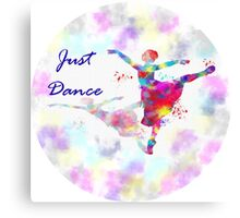 dancing ballerina- just dance Canvas Print