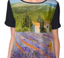 Lavender Fields, Provence Chiffon Top