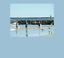 Casting Their Nets For Bait Fish - Island Beach State Park - New Jersey Unisex T-Shirt