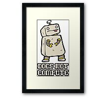 Does Not Compute Framed Print