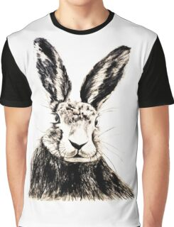 Portrait of a Hare Graphic T-Shirt