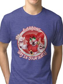Stay In Your Seats - Baby FNAF-SL Tri-blend T-Shirt