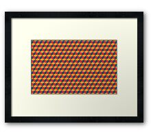 geometric red cube pattern Framed Print
