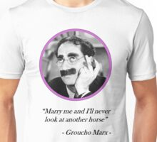[Quote] Groucho Marx - Marry Me Unisex T-Shirt