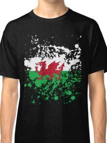 Wales Flag Ink Splatter Classic T-Shirt