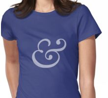 Ampersand (whiter) Womens Fitted T-Shirt