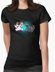 Pokèmon - the great rivals Womens Fitted T-Shirt