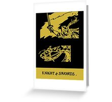 Knight of Swords, Heroic Action Greeting Card