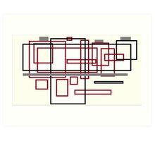 Confused blocks Art Print
