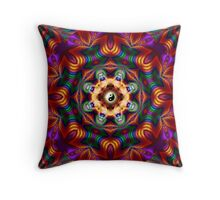 Mandala multicolor Throw Pillow