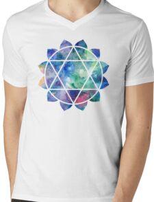 Chakra Anahata Mens V-Neck T-Shirt