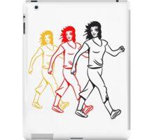 walking female sport iPad Case/Skin