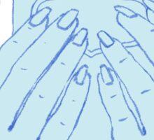 Insta worthy - blue Sticker