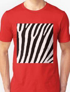 Zebra Stripes Skin Print Pattern Unisex T-Shirt