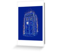 tardis by Vincent Greeting Card