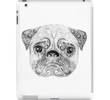 Swirly Pug iPad Case/Skin