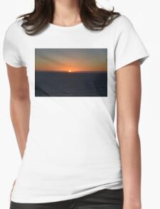 Sunset in Meco Beach 2 Womens Fitted T-Shirt