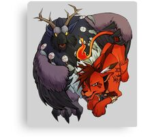Red XIII and Moonkin Canvas Print