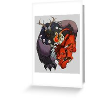 Red XIII and Moonkin Greeting Card