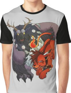 Red XIII and Moonkin Graphic T-Shirt