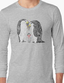 Swirly Penguin Family Long Sleeve T-Shirt