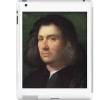 Giorgione (Giorgio da Castelfranco),  - Portrait of a Man iPad Case/Skin