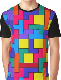 Tetris Blocks Pattern Graphic T-Shirt