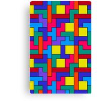 Tetris Blocks Pattern Canvas Print