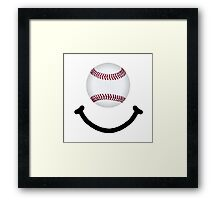 Baseball Smile Framed Print