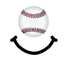 Baseball Smile Photographic Print