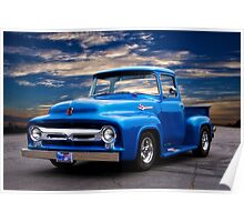 1956 Ford F100 Pickup Poster