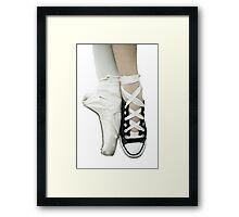 Pointe Shoe + Converse Framed Print