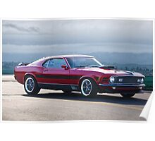 1970 Mustang Mach I Fastback Poster