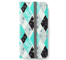 Patchwork floral seamless pattern texture background iPhone Wallet/Case/Skin