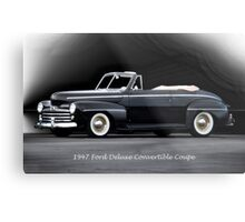 1947 Ford Deluxe Convertible Coupe Metal Print