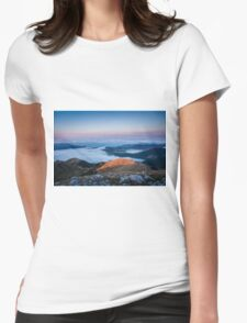 Lake clouds Womens Fitted T-Shirt
