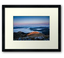 Lake clouds Framed Print