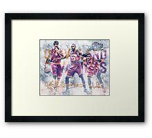 Cleveland Basketball Sports Art James Love Irving Framed Print