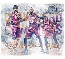 Cleveland Basketball Sports Art James Love Irving Poster