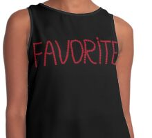 Red mosaic lettering FAVORITE Contrast Tank