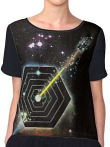 Space and Time Fragmentation Ship Women's Chiffon Top