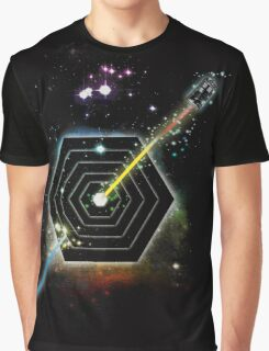 Space and Time Fragmentation Ship Graphic T-Shirt