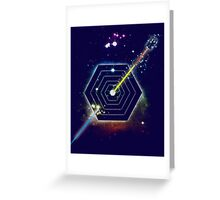 Space and Time Fragmentation Ship Greeting Card