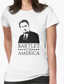 Bartlet for America West Wing Design Womens Fitted T-Shirt