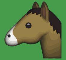 Horse Face Emoji One Piece - Short Sleeve