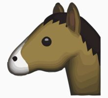 Horse Face Emoji Baby Tee