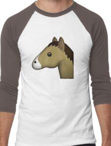Horse Face Emoji Men's Baseball ¾ T-Shirt