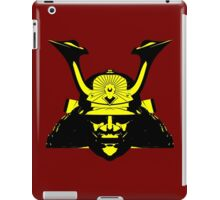 Kabuto graphic in yellow and black iPad Case/Skin