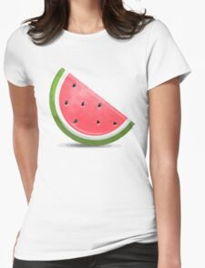 Watermelon Emoji Womens Fitted T-Shirt