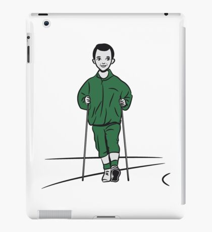 nordic walking man fun sport iPad Case/Skin